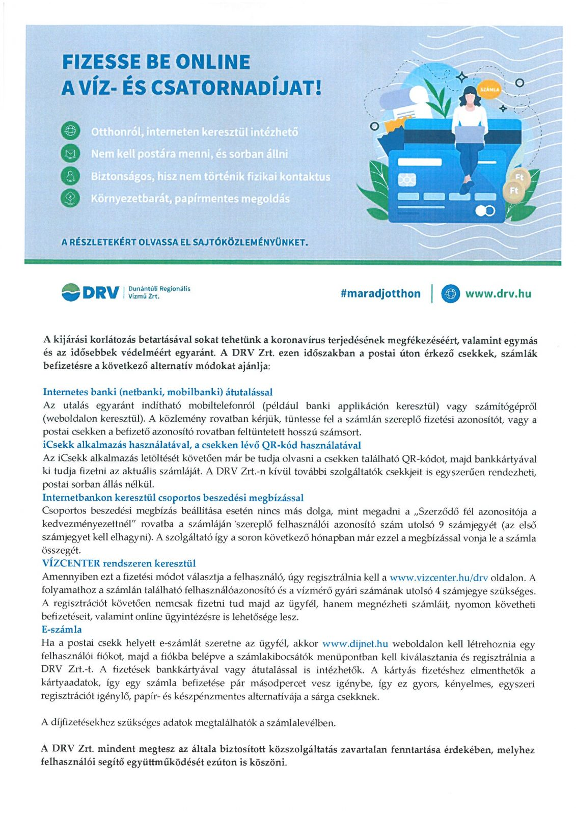 SKMBT C36020042112540 Fizesse be online a víz- és csatornadíját!