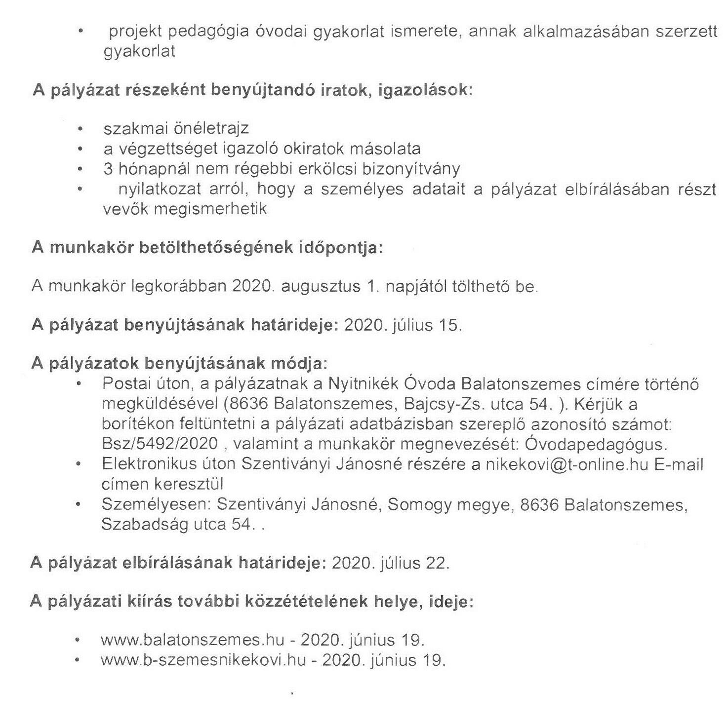 C3B3vodapedagC3B3gus2 ÁLLÁSLEHETŐSÉG - Óvodapedagógus