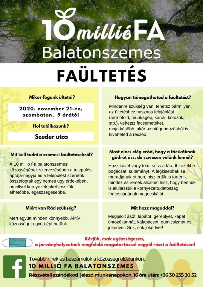 10milliofa 10 millió fa Balatonszemes - faültetés
