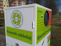Kihelyezett használt sütőolaj gyűjtő konténer